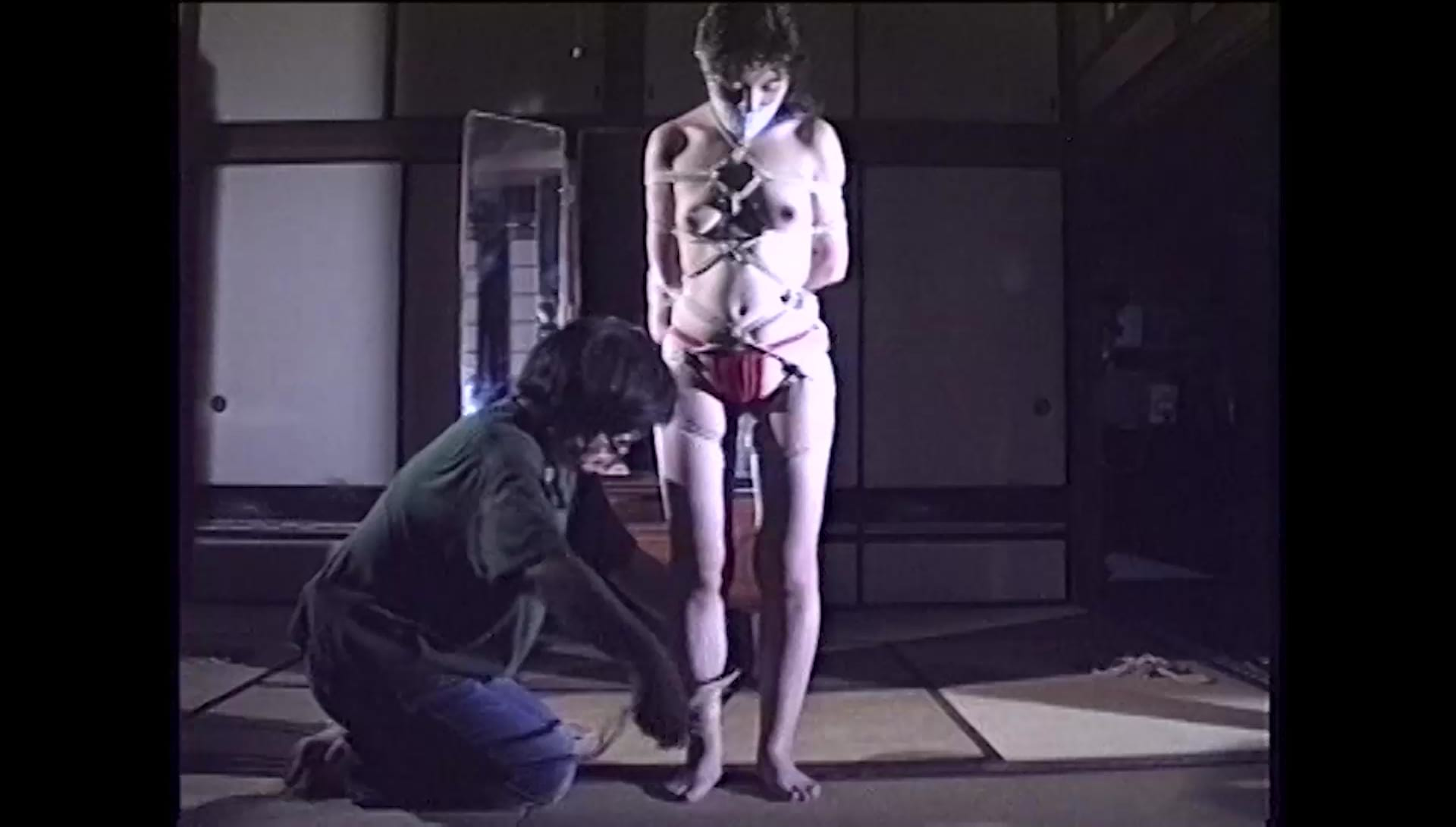 Nureki: Red Fundoshi and Hishi Nawa Shibari (O-08) Japanese Bondage